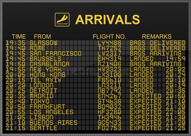 Arrivals Board vector illustration