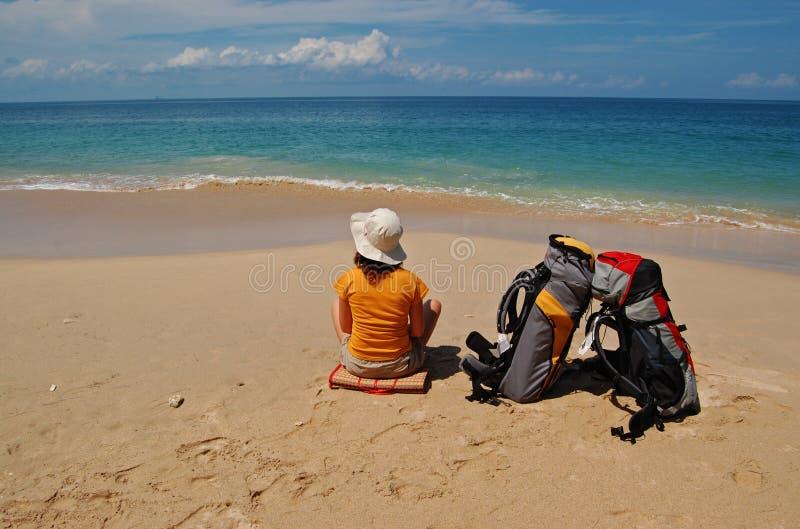 Arrivando alla vacanza fotografia stock libera da diritti