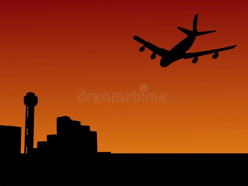 Arrivare piano a Dallas illustrazione vettoriale