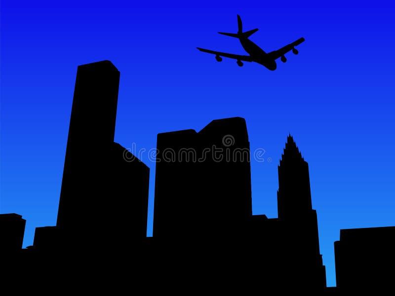 Arrivare piano a Houston illustrazione di stock