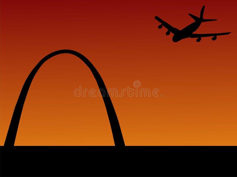 Arrivare piano a St. Louis royalty illustrazione gratis