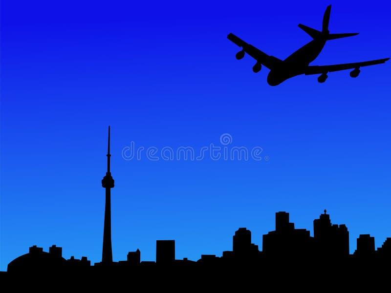 Arrivare piano a Toronto illustrazione di stock