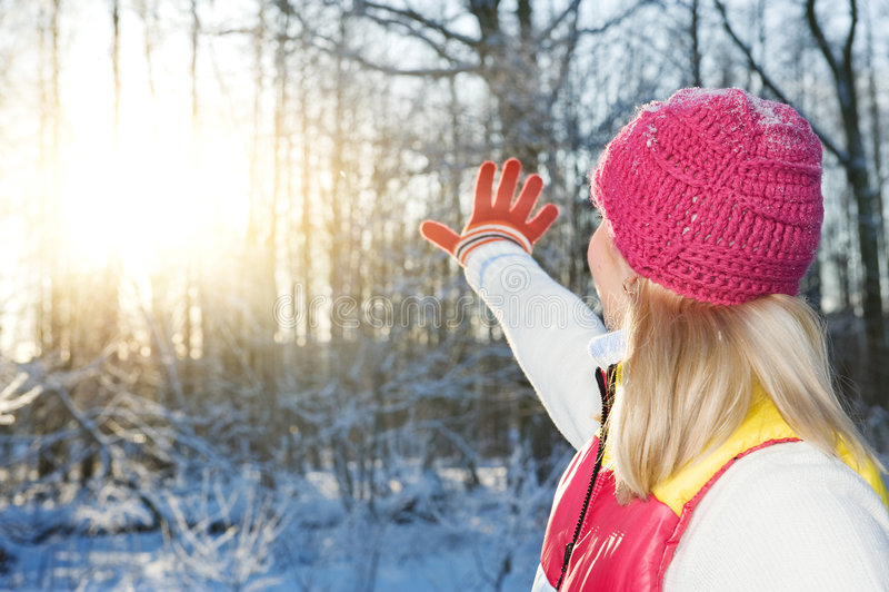 Arrivederci all'inverno immagine stock libera da diritti