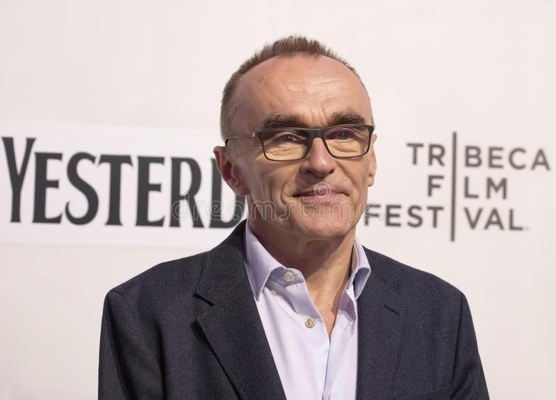 Danny Boyle at World Premiere of `Yesterday` at 2019 Tribeca Film Festival. Arrives at the World Premiere of `Yesterday,`  Closing Night screening at 2019 royalty free stock image