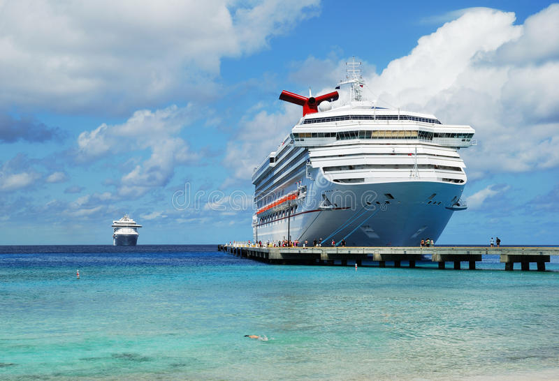 Arriving to Grand Turk royalty free stock photo