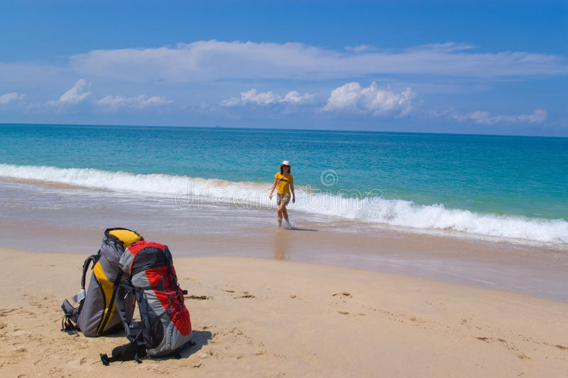 Download Arriving on vacation stock photo. Image of excited, alone - 17947196
