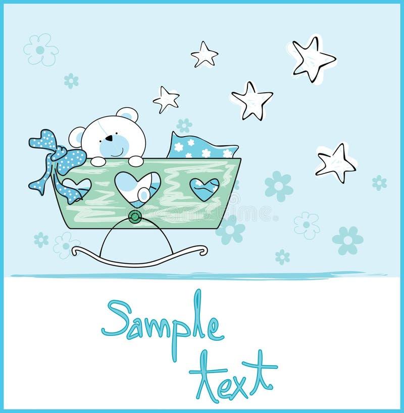 Arrivo del neonato royalty illustrazione gratis