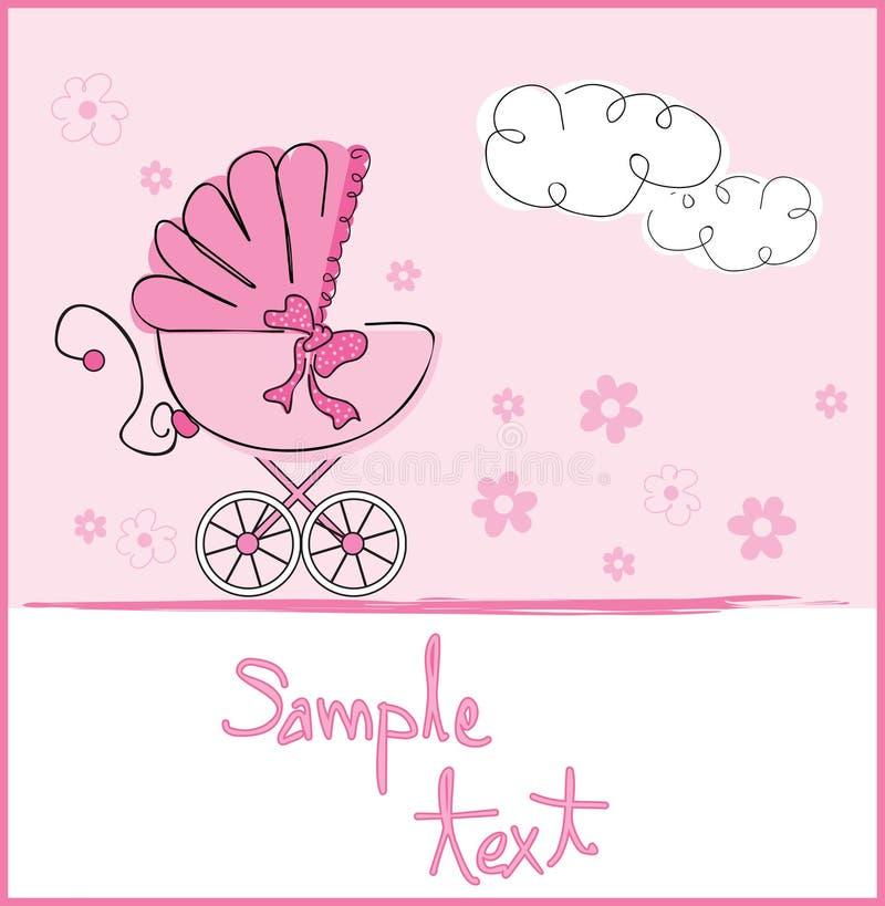 Arrivo della neonata royalty illustrazione gratis