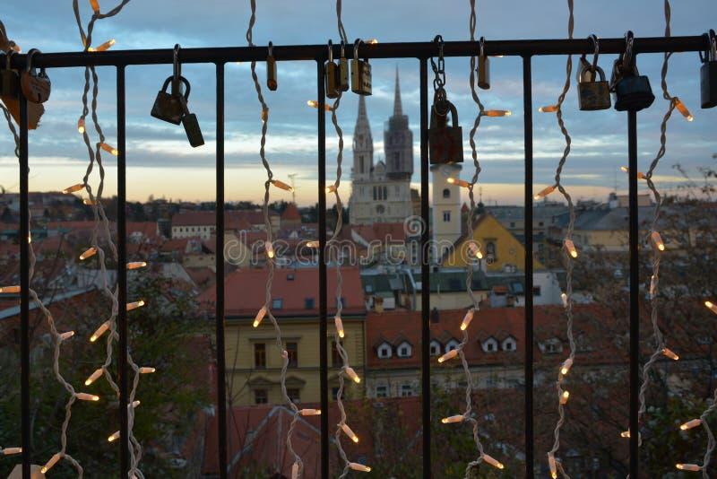 Arrivo di Zagabria, Croazia fotografia stock libera da diritti