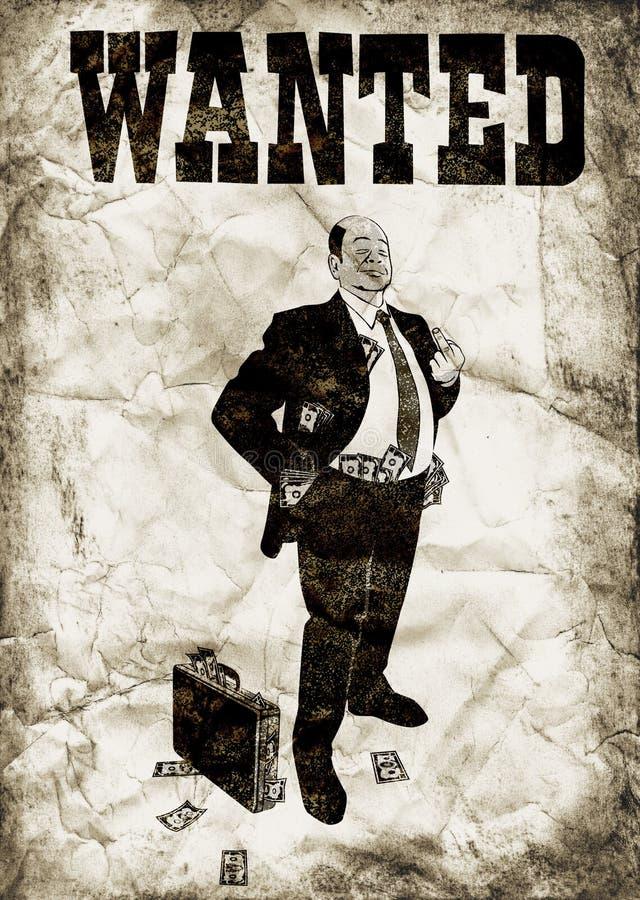 Download The arrogant banker stock illustration. Image of illustration - 13047747