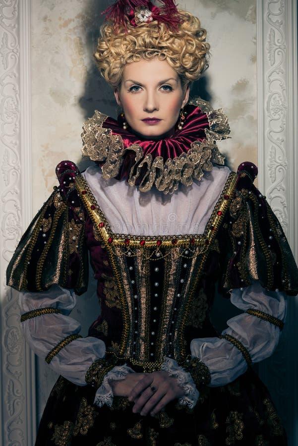 Arrogante koningin royalty-vrije stock foto