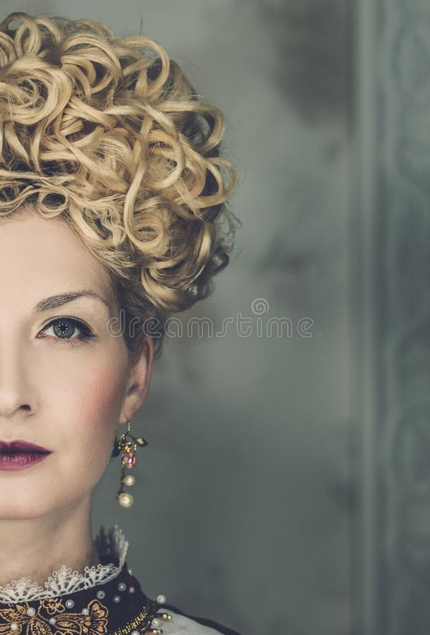 Arrogante koningin royalty-vrije stock afbeeldingen