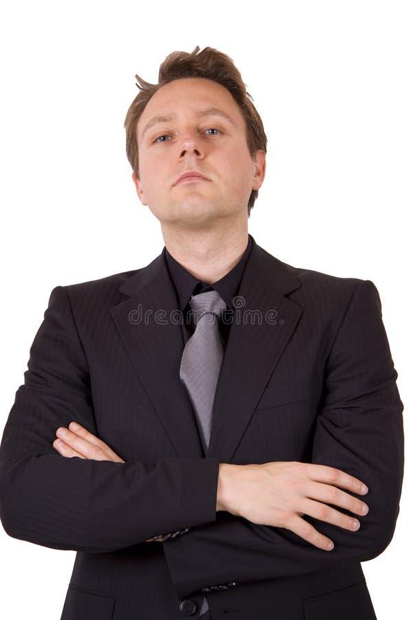 Arrogante zakenman royalty-vrije stock fotografie