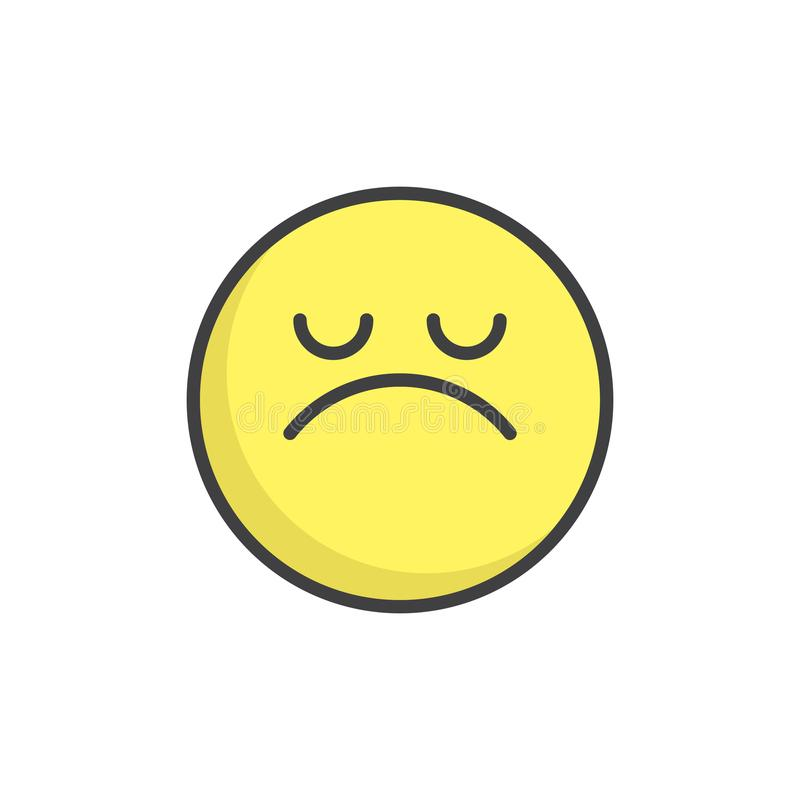 Arroganter gefüllte Entwurfsikone des Gesichtes Emoticon stock abbildung