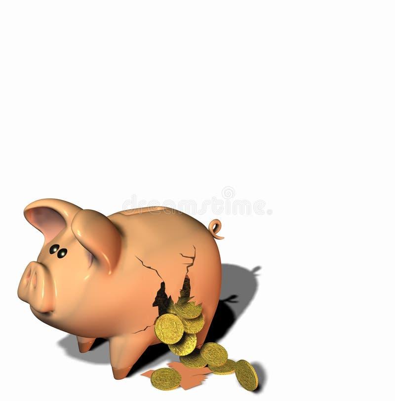 Arrombamento o banco ilustração royalty free