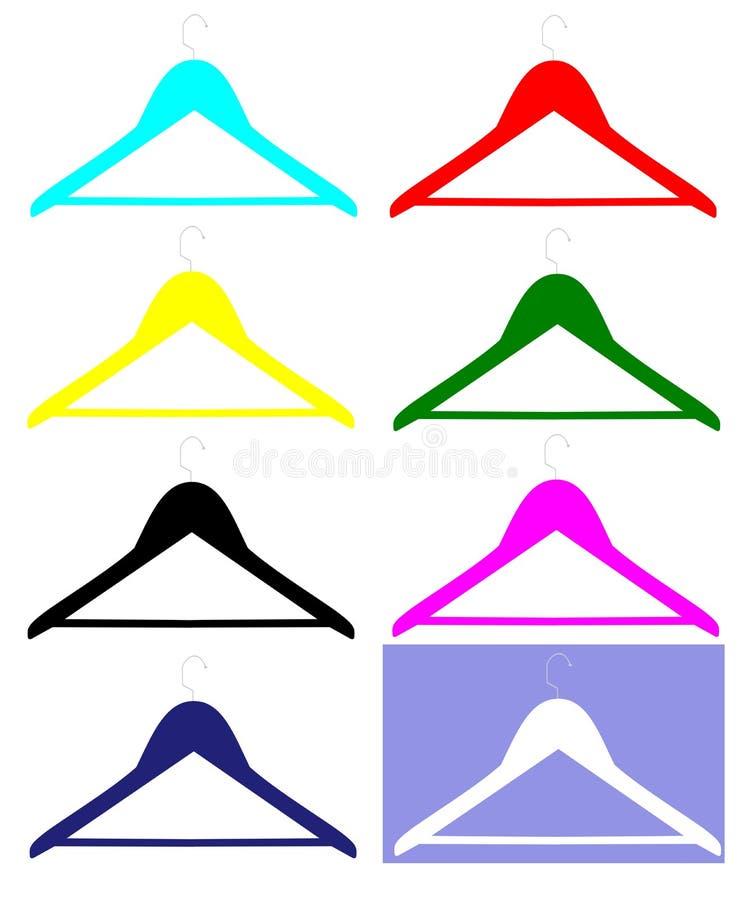 Arrope las perchas ilustración del vector