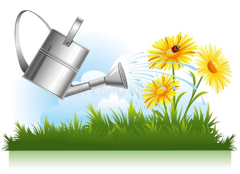 Arrosage de jardin illustration libre de droits