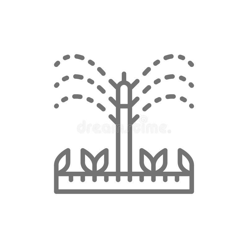 Arrosant, les arroseuses d'irrigation, agriculture, outils de jardinage rayent l'icône illustration stock