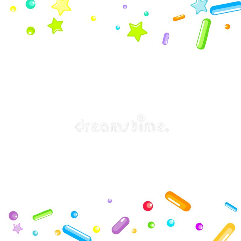 Arrose grenu But?es toriques de petit g?teau, dessert, boulangerie illustration libre de droits