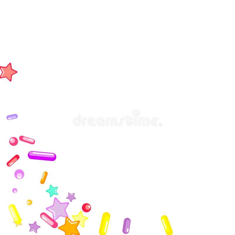 Arrose grenu But?es toriques de petit g?teau, dessert, boulangerie illustration de vecteur