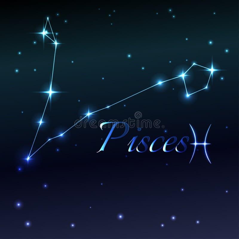 Arrosez le symbole du signe de zodiaque de Poissons, de l'horoscope, de l'art de vecteur et de l'illustration illustration de vecteur