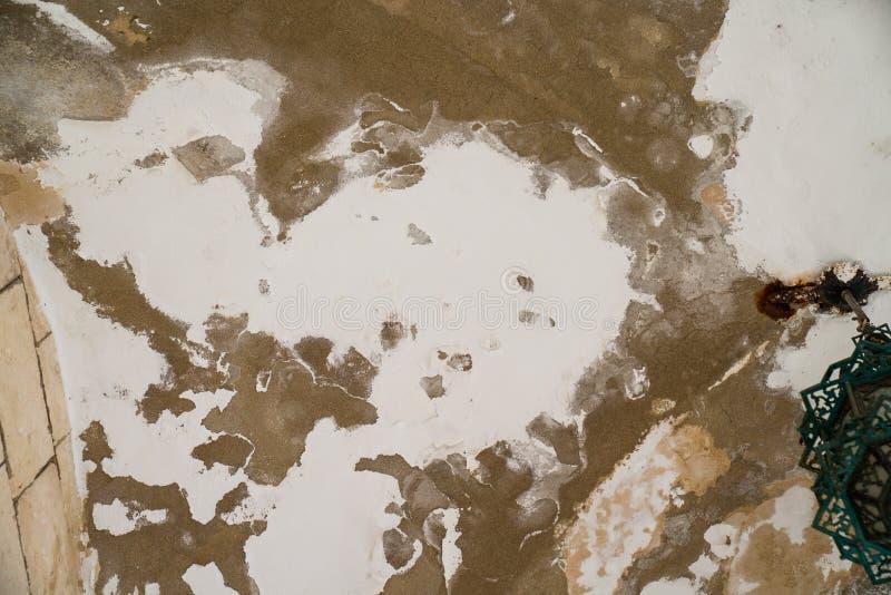 Arrosez les dommages et moulez sur le plafond dans le Mamluks sur l'Esplanade des mosquées à Jérusalem images stock