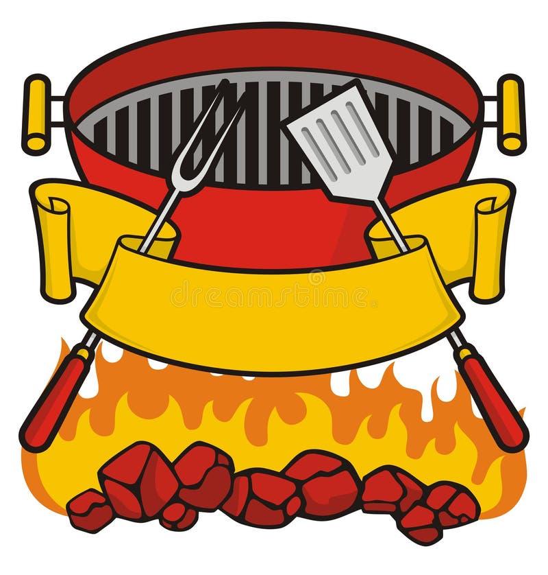 Arrostisca col barbecue la griglia illustrazione vettoriale