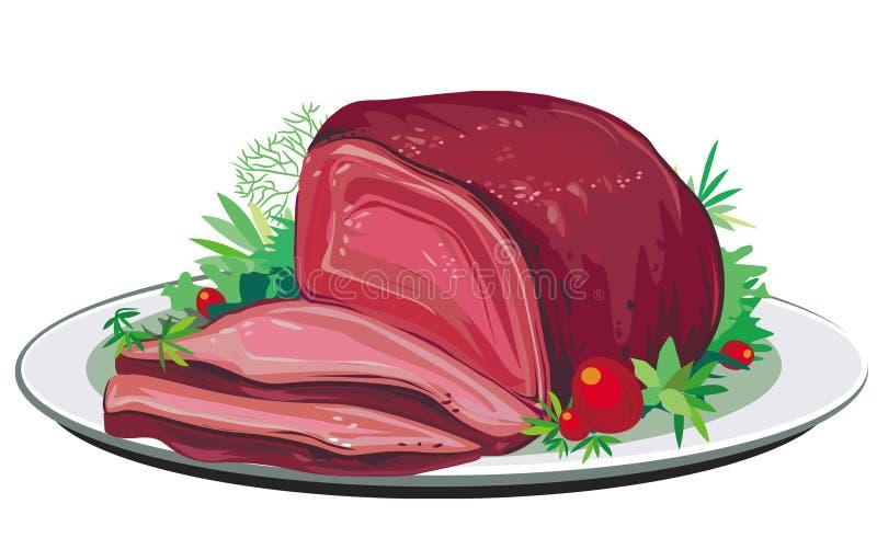 Arrosto di maiale illustrazione di stock