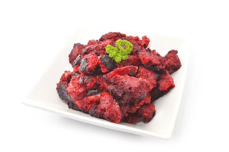 Arrosto di maiale di Fuzhou in vinaccia rossa o pasta rossa del riso del lievito fotografia stock libera da diritti