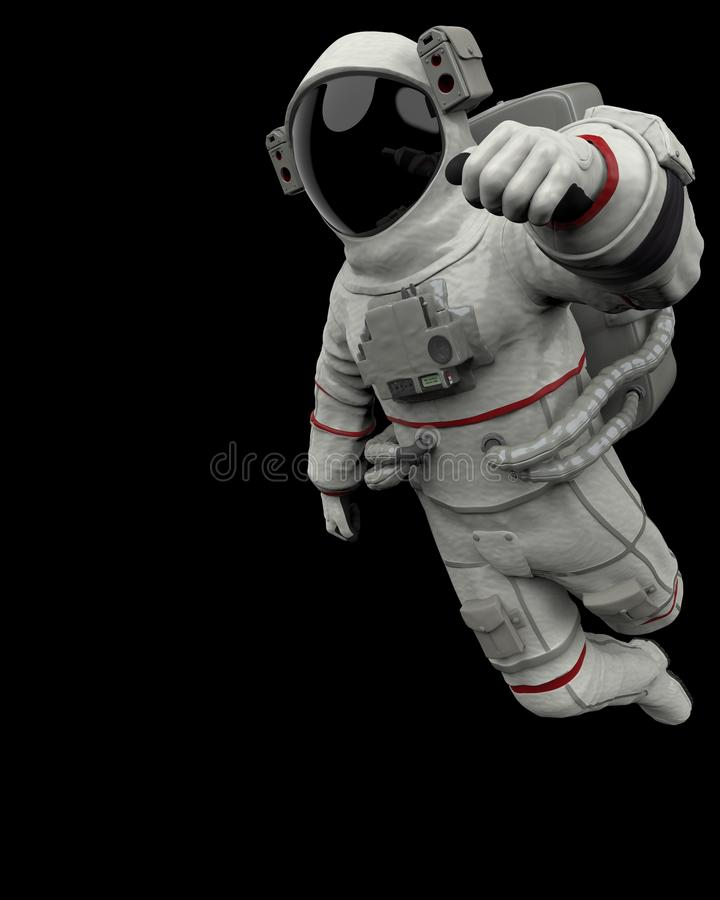 Arround d'esplorazione dell'astronauta illustrazione di stock