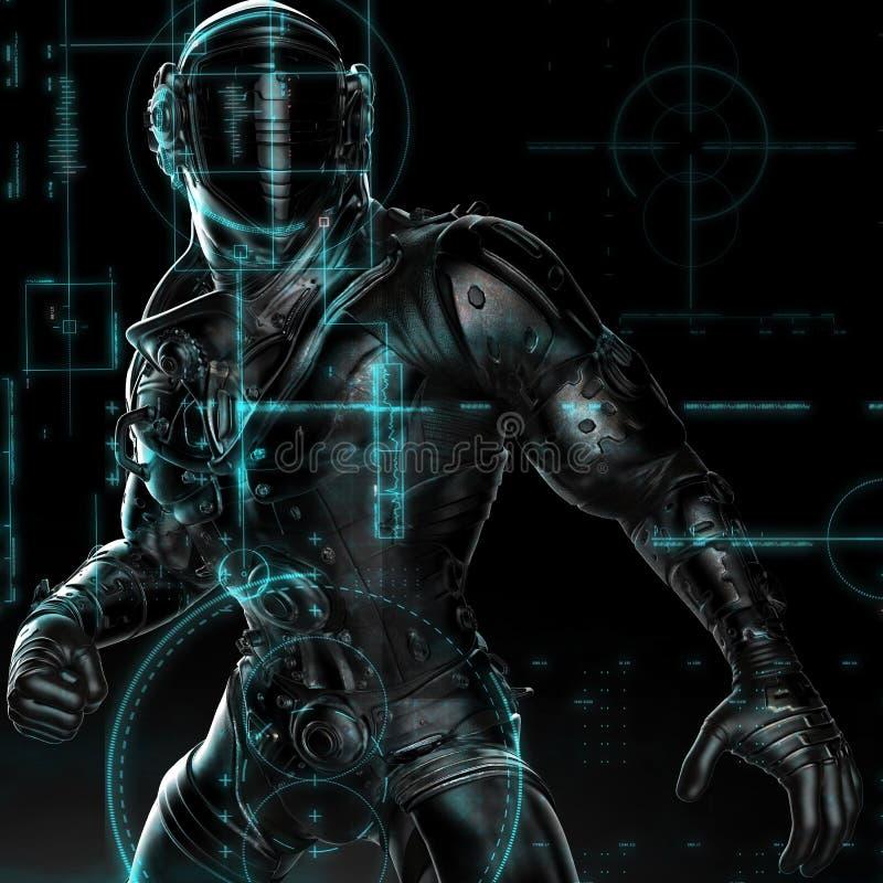 Arround d'esplorazione dell'astronauta nero royalty illustrazione gratis