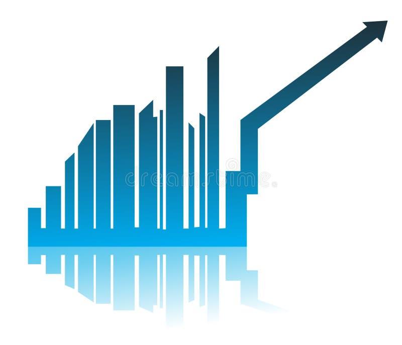 Bar chart growth illustration royalty free illustration