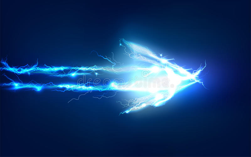 Arrow, Abstract background made of Electric lighting effect. Arrow, Abstract background made of Electric lighting royalty free illustration