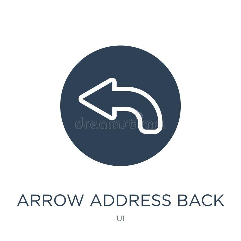 Arrow address back icon in trendy design style. arrow address back icon isolated on white background. arrow address back vector. Icon simple and modern flat stock illustration