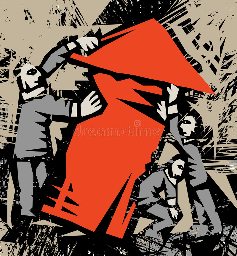 Arrow&raise illustrazione vettoriale