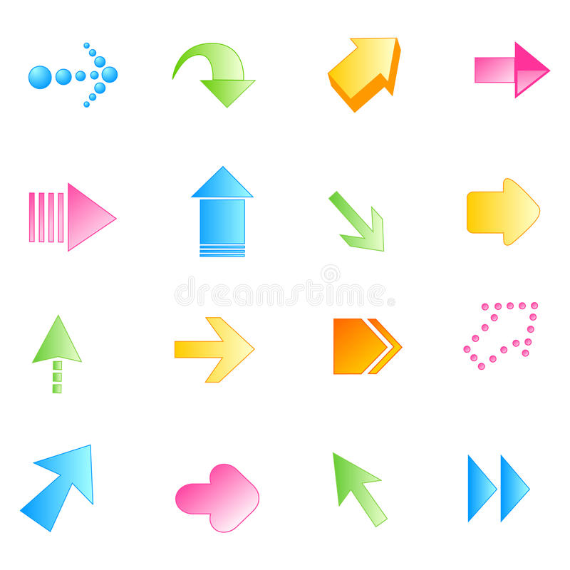 Download Arrow / Arrows stock vector. Illustration of circle, blue - 18889935