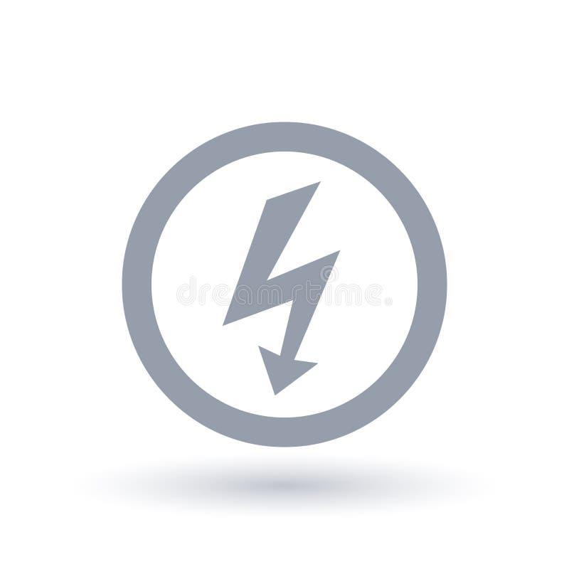 Arrow Bolt Icon. Electric Flash Symbol. Stock Vector - Illustration ...
