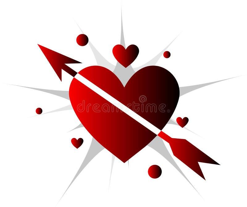 arrow breaking heart бесплатная иллюстрация