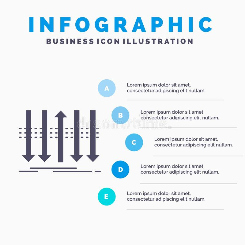 Arrow, business, distinction, forward, individuality Infographics Template for Website and Presentation. GLyph Gray icon with Blue. Infographic style vector vector illustration