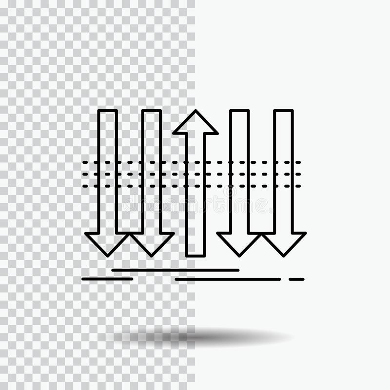 Arrow, business, distinction, forward, individuality Line Icon on Transparent Background. Black Icon Vector Illustration. Vector EPS10 Abstract Template stock illustration