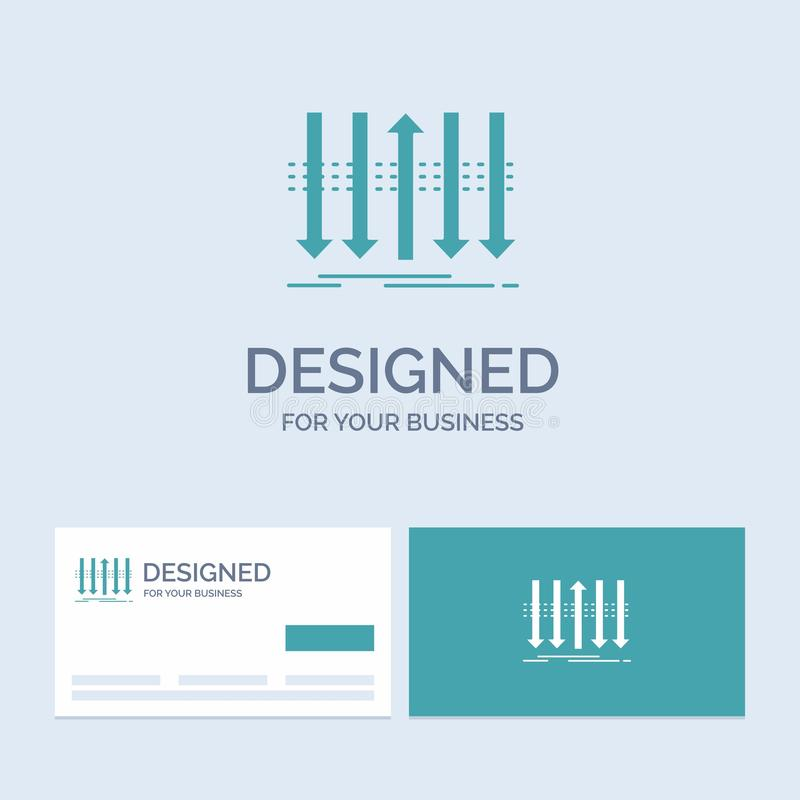 Arrow, business, distinction, forward, individuality Business Logo Glyph Icon Symbol for your business. Turquoise Business Cards. With Brand logo template vector illustration