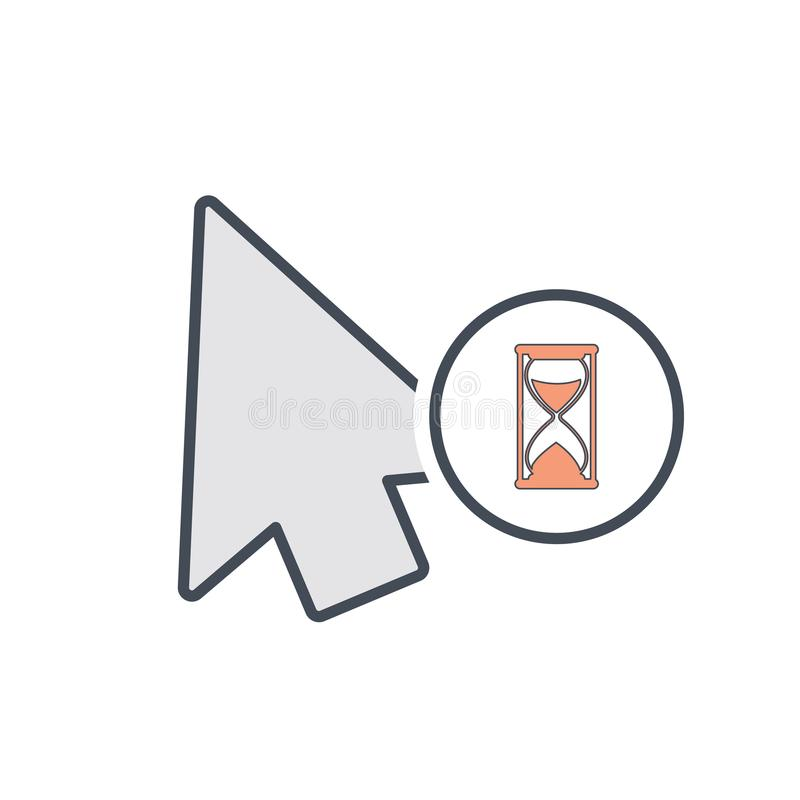 Arrow busy cursor mouse pointer icon. Vector illustration royalty free illustration