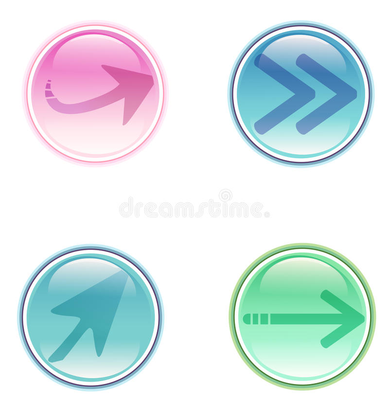 Arrow Button Royalty Free Stock Images