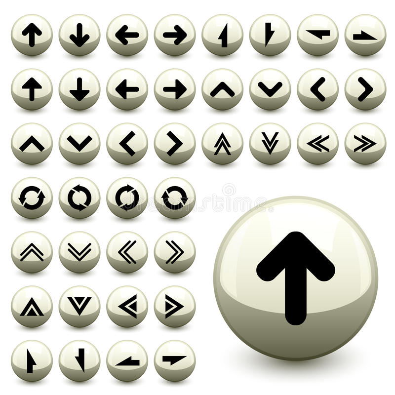 Download Arrow buttons stock vector. Image of chrome, drawing - 24645537