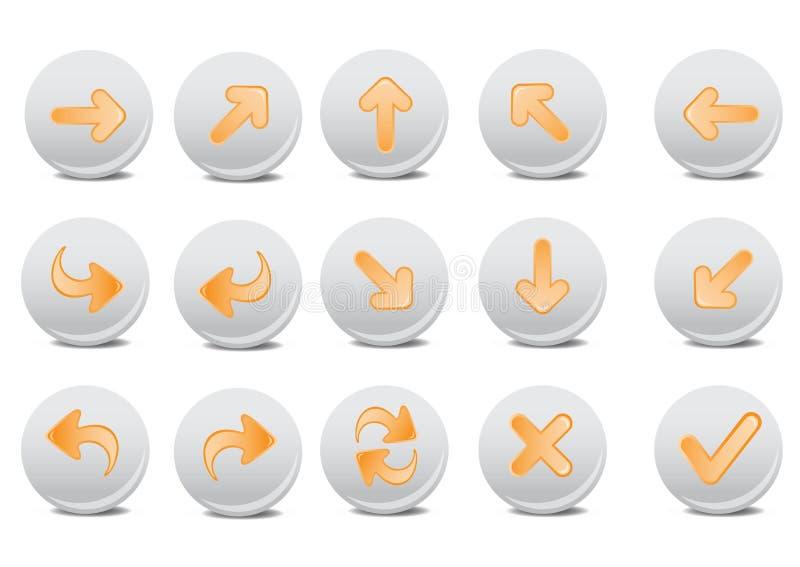 Download Arrow buttons stock vector. Image of computer, arrow, arrows - 7535633