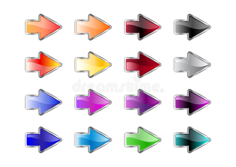 Download Arrow buttons stock vector. Illustration of geometric - 8264733