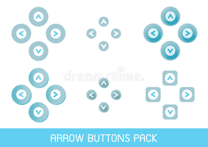 Arrow buttons pack stock photo
