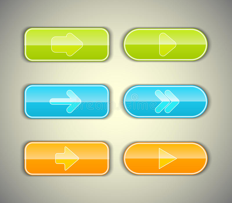 Arrow Buttons Set. Stock Image