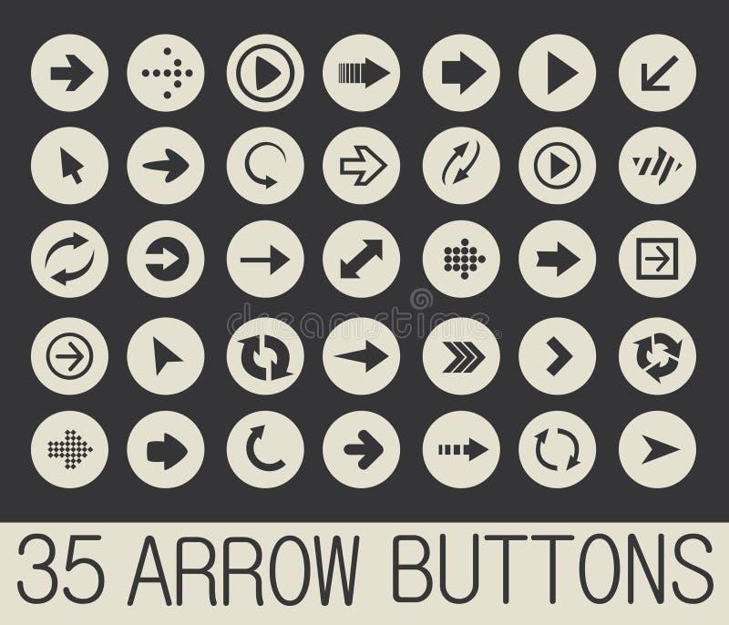 Arrow Buttons Vector Stock Vector