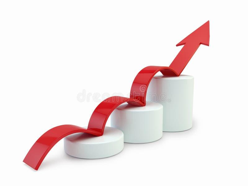 Arrow on chart. Success business concept stock illustration